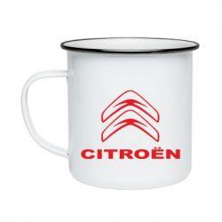 Кружка емальована Логотип Citroen