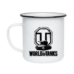 Кружка емальована Логотип World Of Tanks