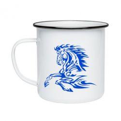 Кружка эмалированная Лошадь