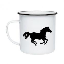 Кружка эмалированная Лошадка