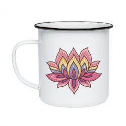Кружка эмалированная Lotus - FatLine