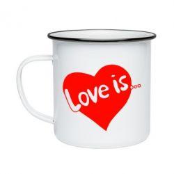 Кружка емальована любов-це...