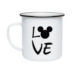 Кружка емальована Love Mickey Mouse (male)