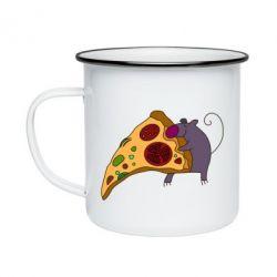 Кружка эмалированная Love Pizza 2
