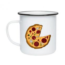 Кружка емальована Love Pizza