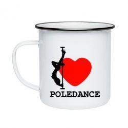 Кружка емальована Love Pole Dance