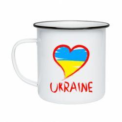 Кружка емальована Love Ukraine