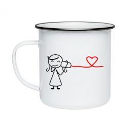 Кружка эмалированная Любовное послание 2