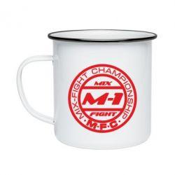 Кружка эмалированная M-1 Logo - FatLine