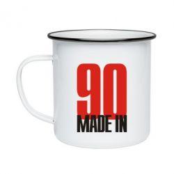 Кружка эмалированная Made in 90