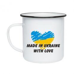 Кружка эмалированная Made in Ukraine with Love - FatLine