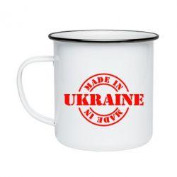 Кружка емальована Made in Ukraine