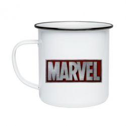 Кружка емальована Marvel 3D