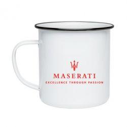 Кружка эмалированная Maserati