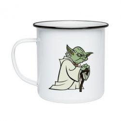 Кружка емальована Master Yoda