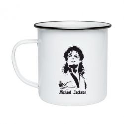 Кружка емальована Майкл Джексон