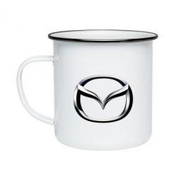 Кружка эмалированная Mazda 3D Logo