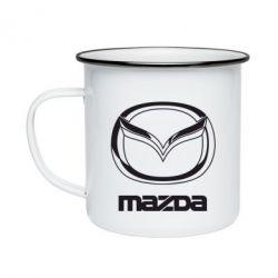 Кружка емальована Mazda Logo