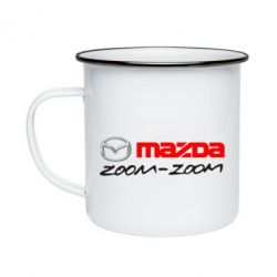 Кружка емальована Mazda Zoom-Zoom