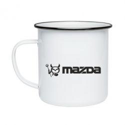 Кружка емальована Mazda