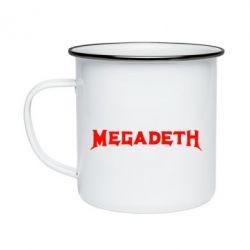 Кружка емальована Megadeth