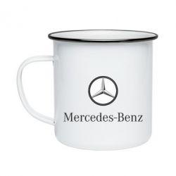 Кружка эмалированная Mercedes-Benz Logo