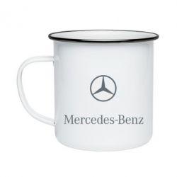 Кружка емальована Mercedes Benz logo