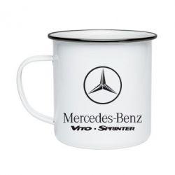 Кружка эмалированная Mercedes Benz