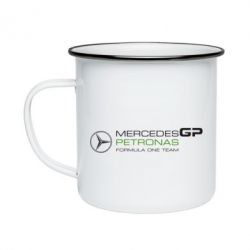 Кружка эмалированная Mercedes GP