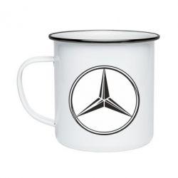 Кружка емальована Mercedes