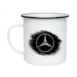 Кружка эмалированная Мерседес арт, Mercedes art