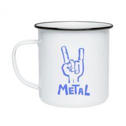 Кружка эмалированная Metal