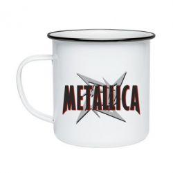 Кружка емальована Логотип Metallica