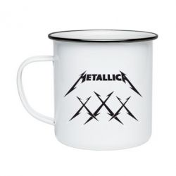 Кружка емальована Metallica XXX