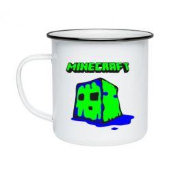 Кружка емальована Minecraft Head