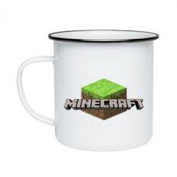 Кружка емальована Minecraft Land