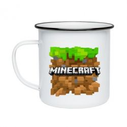 Кружка емальована Minecraft Main Logo