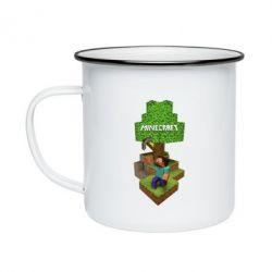 Кружка емальована Minecraft Steve