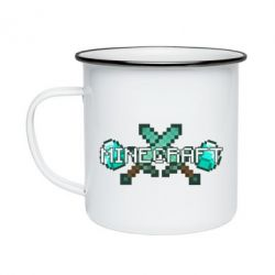 Кружка емальована Minecraft алмазний меч