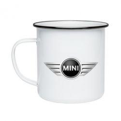 Кружка эмалированная Mini Cooper - FatLine