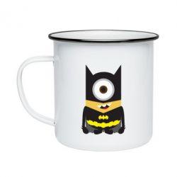 Кружка емальована Minion Batman