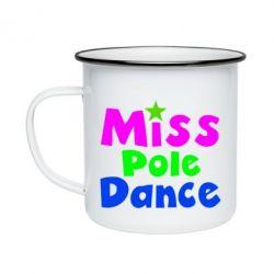 Кружка эмалированная Miss Pole Dance - FatLine