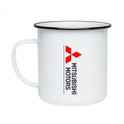 Кружка эмалированная Mitsubishi Motors лого