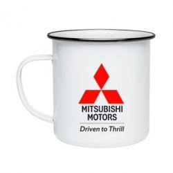 Кружка эмалированная Mitsubishi Motors
