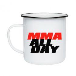 Кружка эмалированная MMA All day