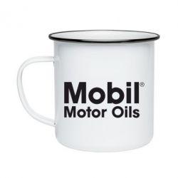 Кружка эмалированная Mobil Motor Oils