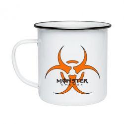 Кружка емальована Monster Energy Biohazard
