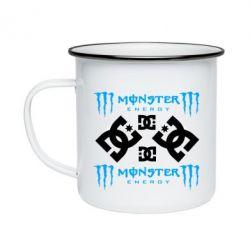 Кружка емальована Monster Energy DC Logo