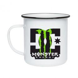 Кружка емальована Monster Energy DC