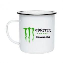 Кружка емальована Monster Energy Kawasaki